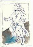 Blatt 8 Ein Stück des Weges lief sie mir nach (c) Zeichnung von Susanne Haun (2)