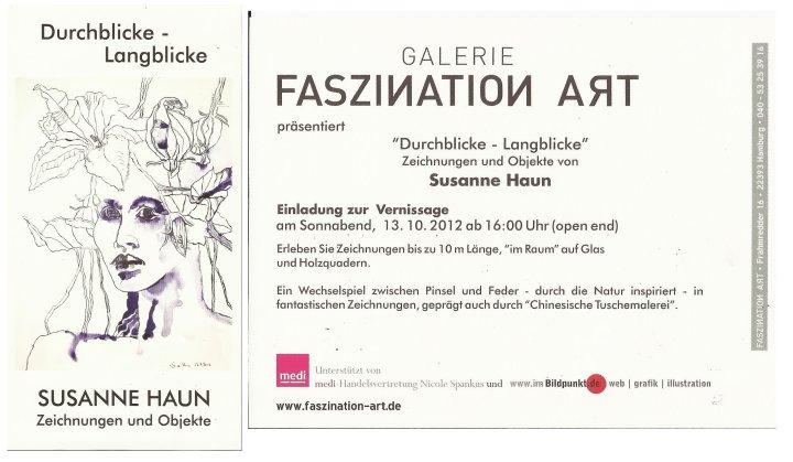 Einladung für Event Ausstellung Susanne Haun
