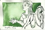 Glücksengel Version 2 (c) Zeichnung von Susanne Haun