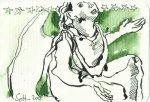 Glücksengel Version 3 (c) Zeichnung von Susanne Haun