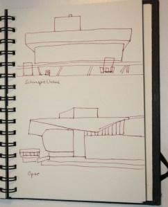 Oper und Schauspielhaus Kopenhagen (c) Zeichnung von Susanne Haun