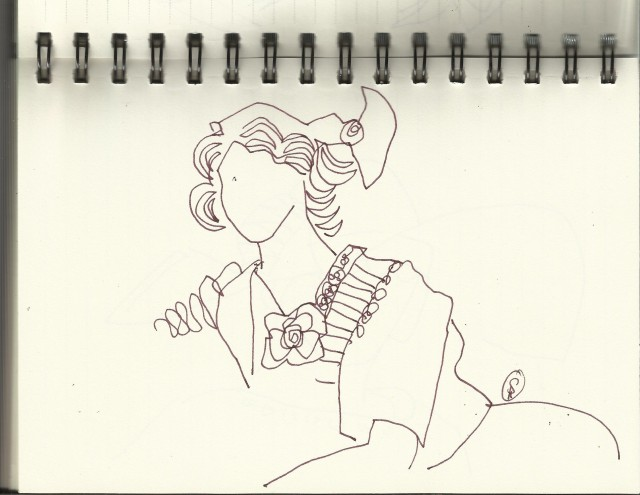 Postkartenschönheiten (c) Zeichnung von Susanne Haun