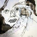 Blatt 1 Die Beobachterin - 25 x 25 cm (c) Collage von Susanne Haun
