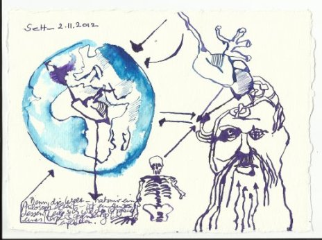 Blatt 34 Die Welt ist ein ganzes (c) Zeichnung von Susanne Haun