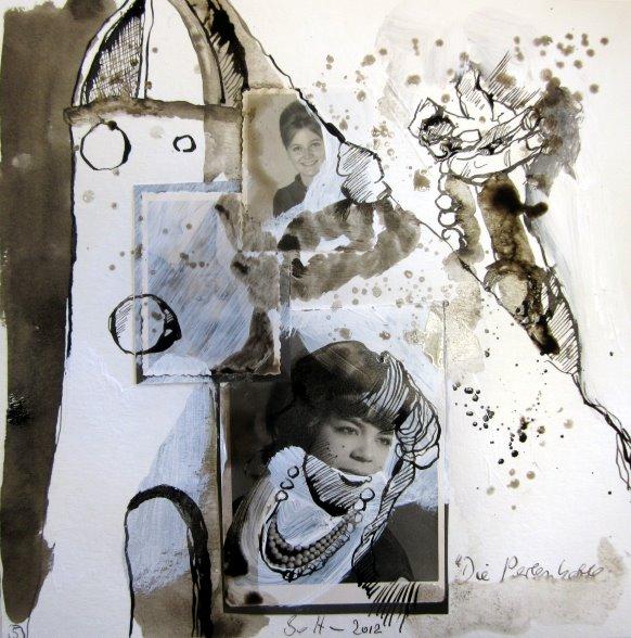 Blatt 4 Der Turm 25 x 25 cm (c) Collage von Susanne Haun