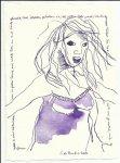 Blatt 41 durch das lange Haar (c) Zeichnung von Susanne Haun