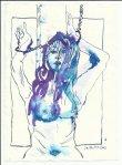 Blatt 42 ich vermeinte Ammonaria zu sehen (c) Zeichnung von Susanne Haun
