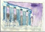 Blatt 44 Ammonaria in der Säulenhalle (c) Zeichnung von Susanne Haun