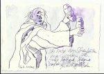 Blatt 45 Der mir lachend kleine heiße Brote anbot (c) Zeichnung von Susanne Haun