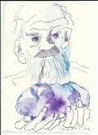 Blatt 46 Den scheußlichen Anachoreten (c) Zeichnung von Susanne Haun