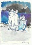 Blatt 57 Viele Einsiedeleien gegründet (c) Zeichnung von Susanne Haun
