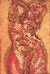 Üppig ocker (c) Radierung von Susanne Haun