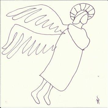 Engel nach Giotto (c) Zeichnung von Susanne Haun (3)