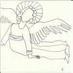 Engel nach Giotto (c) Zeichnung von Susanne Haun