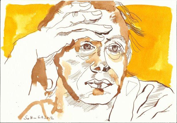 Käthe Kollwitz 17 x 22 cm Tusche auf Bütten (c) Zeichnung von Susanne Haun