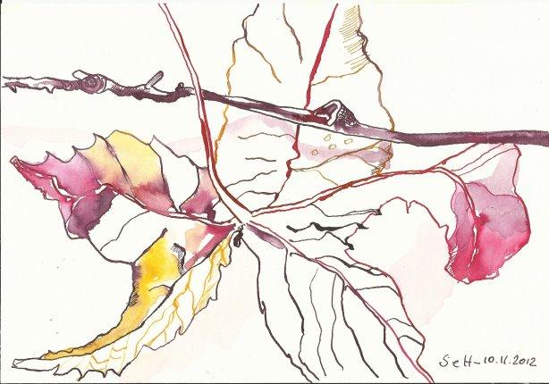 Laub Version 1 (c) Zeichnung von Susanne Haun
