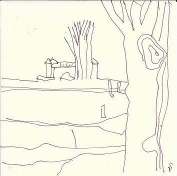 Tegel Schloss (c) Zeichnung von Susanne Haun