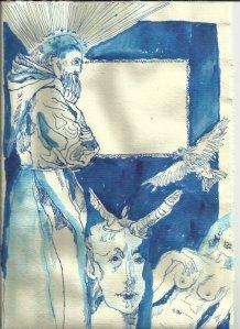 Titelrahmen Version 1 Zustand 4 (c) Zeichnung von Susanne Haun