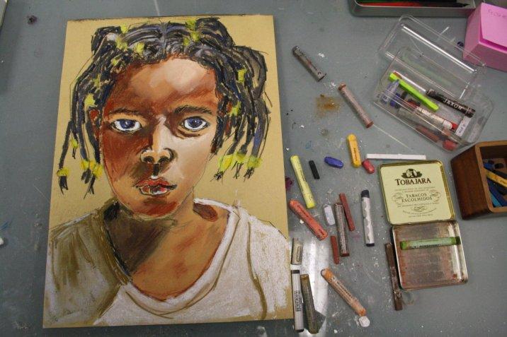 Shorog 40 x 30 cm Pastell von (c) Susanne Haun
