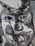 Entstehung Silvester - Dämon (c) Zeichnung auf Leinwand von Susanne Haun