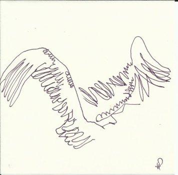 Clarence bekommt Flügel 9teilig (c) Zeichnung von Susanne Haun 3
