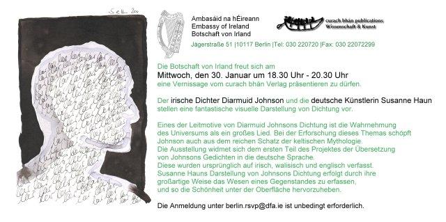 Einladung der Irischen Botschaft zur Ausstellung