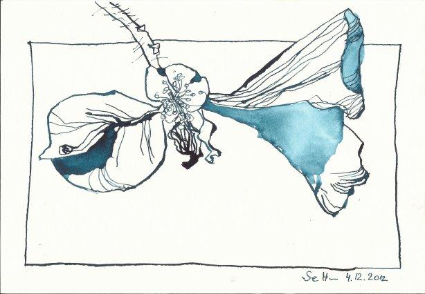 Verblühte Rose Version 2(c) Zeichnung von Susanne Haun