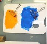 Ich nehme für die erste Platte zwei Farben (c) Foto von Susanne Haun