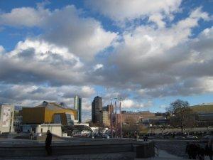 Das Wetter schenkt mir eine Skyline vom Potsdamer Platz (c) Foto von Susanne Haun