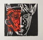 Steinerne Tränen - 15 x 15 cm (c) Linoldruck von Susanne Haun