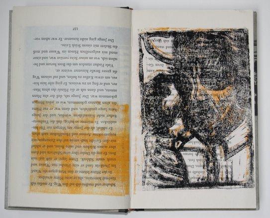 Andere Art des Drucks des alten Manns (c) Künstlerunikatbuch von Susanne Haun