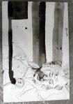 Ich mochte davor das Schwarz im Gesicht (c) Leinwand von Susanne Haun