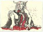 Blatt 71 Es ist der Teufel der auf dem Hüttendach gestützt (c) Zeichnung von Susanne Haun