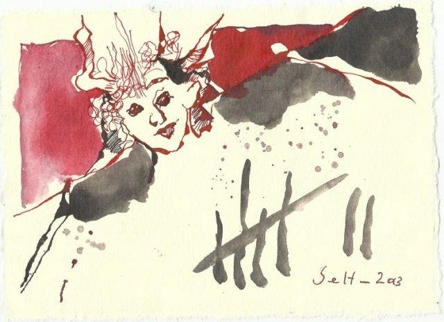 Blatt 72 trägt die 7 Todsünden (c) Zeichnung von Susanne Haun