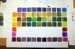 Eine Farbkarte wie die von Alex erstellen bedeutet viel Arbeit (c) Foto von Susanne Haun