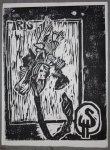 Iris 38 x 50 cm auf Büttten (c) Holzschnitt von Susanne Haun