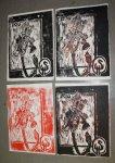 Variationen der Iris (c) Holzschnitte von Susanne Haun