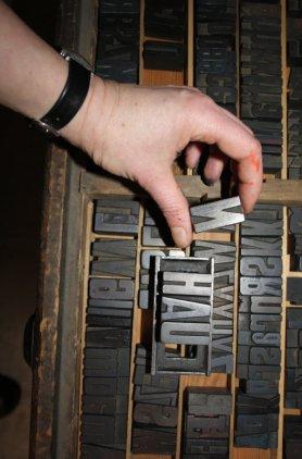 Hau - Buchstaben (c) Foto von Susanne Haun