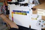 Die Farbkarte von Alex nimmt Form an (c) Foto von Susanne Haun