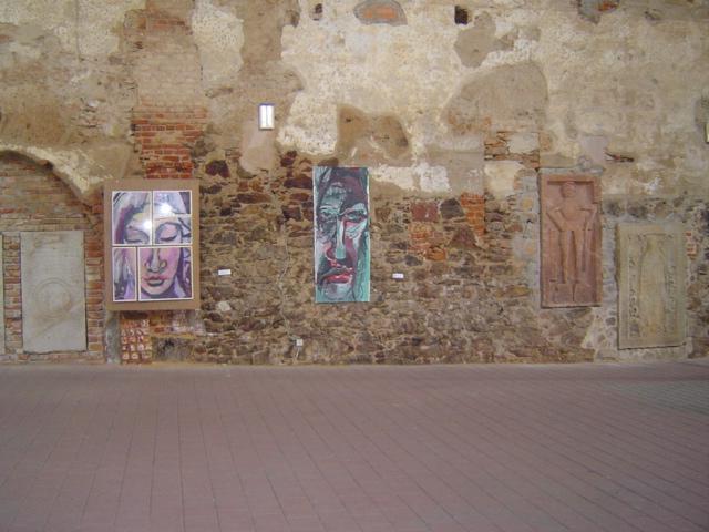 Meine Arbeiten im Jahr 2004 in der Klosterkirche in Grimma (c) Foto von Susanne Haun