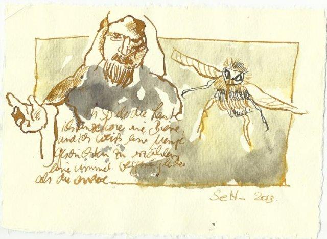 Blatt 100 Ich tanze wie eine Biene (c) Zeichnung von Susanne Haun