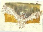Blatt 101 Ein großer Vogel (c) Zeichnung von Susanne Haun