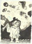 Blatt 108 Mondlicht sickert durch eine Wolke (c) Zeichnung von Susanne Haun