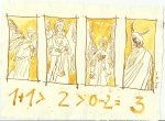 Blatt 113 Rangordnung der Engel (c) Zeichnung von Susanne Haun