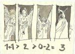 Blatt 114 Rangordnung der Engel (c) Zeichnung von Susanne Haun
