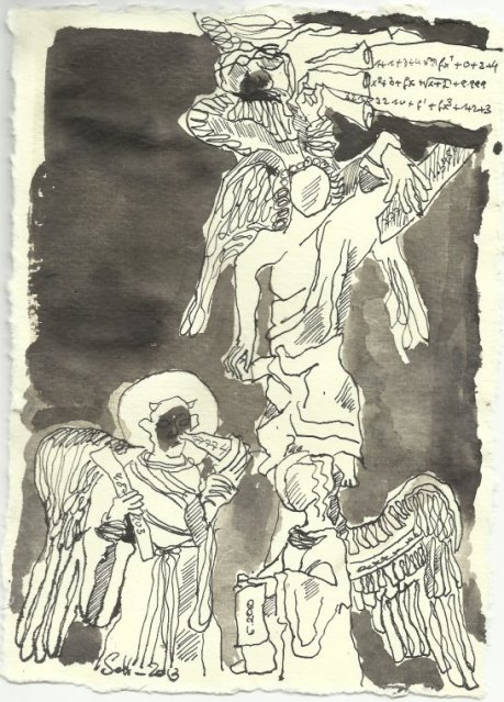 Blatt 115 Rangordnung der Engel (c) Zeichnung von Susanne Haun