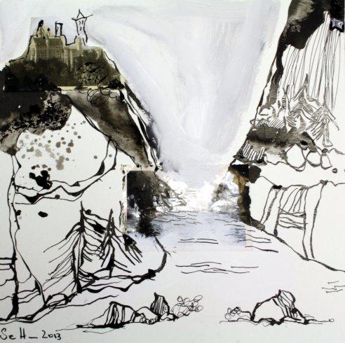Blatt 15 Zeit wie ein Fluss (c) Collage von Susanne Haun