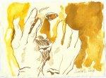 Blatt 87 Das Gesicht will ich mir mit Goldstaub einreiben (c) Zeichnung von Susanne Haun