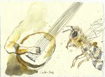 Blatt 97 Ich spiele die Laute (c) Zeichnung von Susanne Haun
