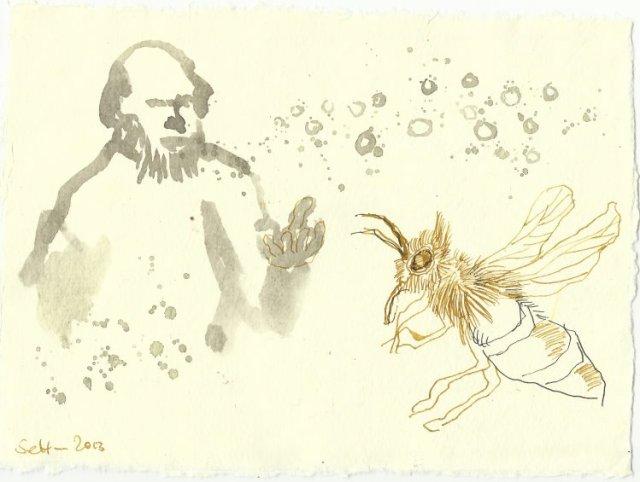Blatt 99 Weiß eine Menge Geschichten zu erzählen (c) Zeichnung von Susanne Haun